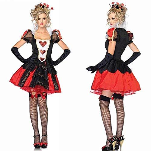 KAIDILA Reina de Reina de Corazones de Halloween Cosplay Traje Traje Traje Traje de Alicia Noche Tienda Etapa