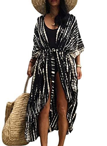 CORAFRITZ Ropa de abrigo para mujer, de moda, para traje de baño, casual, frente abierto, para mujer, ropa de abrigo suelta