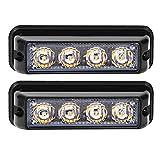 Linchview Frontblitzer 4W LED 12V/24V Auto Warnleuchten Blitzlicht Stand Licht Cargo Truck Strobe...