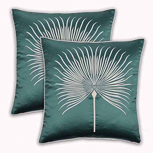 LOVINSUNSHINE Dandelion Throw Pillow Covers Faux Silk 20x20 Pillow Covers Set of 2 Decorative Pillow Cases Silky Satin Pillow Case