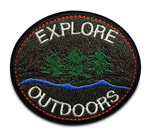 Finally Home Expolre Outdoors Wander Patch zum Aufbügeln | Reisen Patches, Bügelflicken, Flicken, Aufnäher