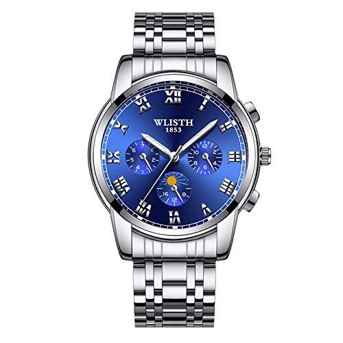 Watches Mens Full Steel Quartz Analog Wrist Watch Men Waterproof Date Business Watch Vintage Watch Bands