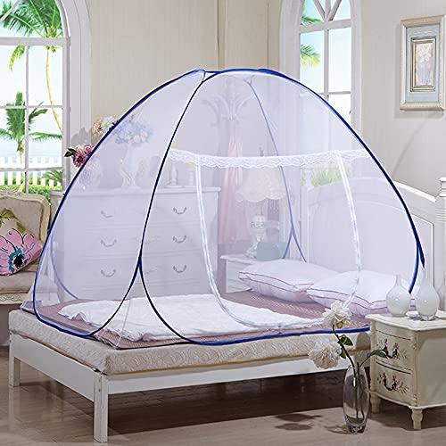CHENNA Una Idea más Nueva de diseño portátil Pop Up Mosquito Net Dobling Mosquito Net Tent Freestand Cama con la Parte Inferior para el Viaje al Aire Libre (Size : 1.5M)