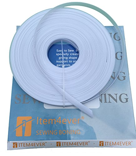 "50yds Rigilene Poly Polyester Boning - Item4ever (1/2"", White)"