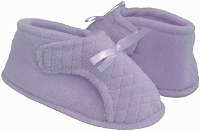 Womens Adjustable Bootie Slipper (XL, purplec)