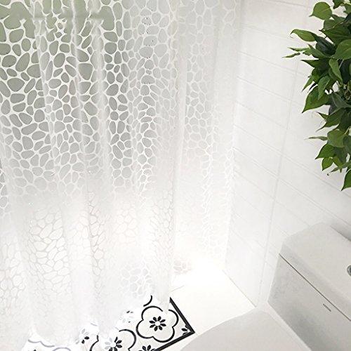 Rideau de douche EVA Salle de bain Imperméable à l'humidité Découpe coupe rideaux (taille: 180 * 180cm) ( taille : 220*180cm )