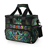Baofu Large Skull Picnic Lunch Bag Insulated Reusable Tote Bag Freezable Portable Leakproof Lunch Box WaterproofCooler Premium Basket For PicnicTravel Camping