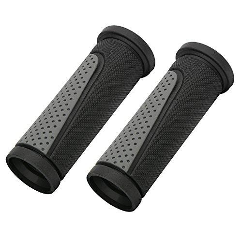 TOPCABIN 2X Short Mini Handlebar Bicycle Grips Fit Many Standard Bikes 90MM Length (Black + Grey)