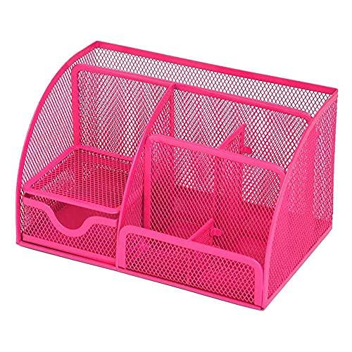 zhaita Organizador de escritorio de oficina, colección de malla con 6 compartimentos cajón