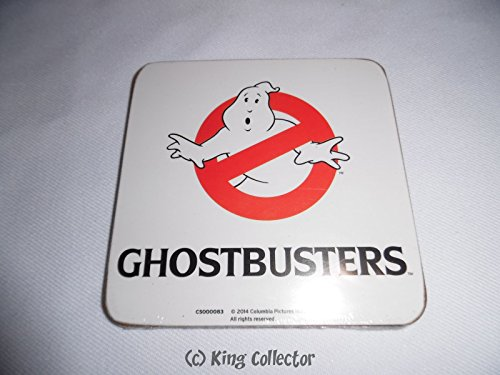 Pyramid International Ghostbusters (Logo) Officiële Dranken Coaster-Beschermende Melamine Cover met Kurk Base 10 x 10cm, Hout, Multi-Colour, 10 x 10 x 1,3 cm