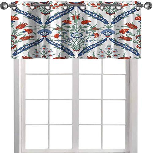 YUAZHOQI Cortinas de cenefa tradicional árabe ornamental sin costuras para su diseño floral ornamental sin costuras para cenefas de cocina de cerámica de 132 x 45,7 cm
