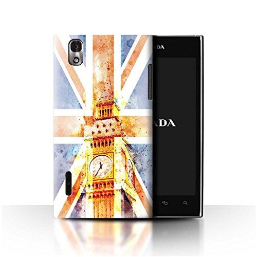 Stuff4 Phone Case/Cover/Skin/LGFL-53HN CC/Great Britain/British Pride Collection Big Ben Flagge LG Prada 3.0/K2/P940