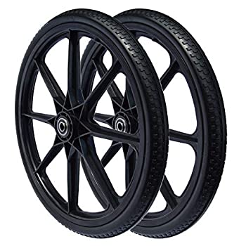 20 x 2.125 Flat Free Wheel for Rubbermaid Cart  2-PACK