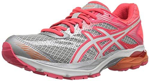 ASICS Women's Gel-Flux 4 Running Shoe, Mid Grey/White/Diva Pink, 9 D US