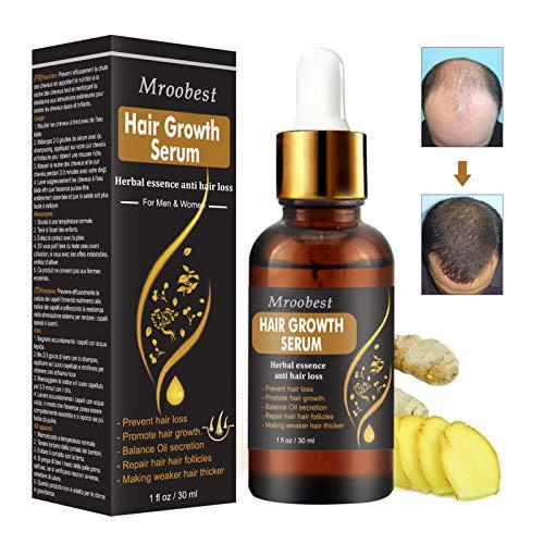 Haarwachstum Serum, Haarserum, Anti-Haarausfall, natürliche Kräuteressenz, Anti-Haarausfall Haar Serum, für dünner werdendes Haar, Verdickung und Nachwachen, für schnelles Haarwachstum