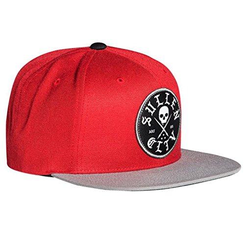 Sullen Clothing Snapback - Gorra de béisbol, color rojo