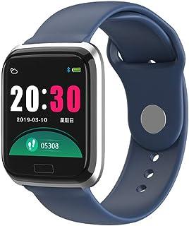 WF Impermeable Pulsera de Actividad Inteligente, con Pulsómetro Monitor de Calorías Sueño Podómetro HD Color Screen Compatible iOS y Android1.14 Inch Mujeres Hombres
