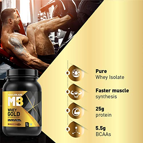 MuscleBlaze Whey Gold 100% Whey Protein Isolate