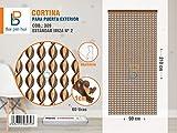 BAI PIN HUI (COD.309) Cortina para puerta exterior, Modelo IBIZA, 60 tiras, Color: MARRÓN, Materiales: plástico y aluminio, Tamaño: 90 x 210 cm