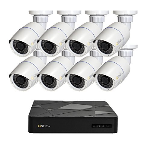 Q-See QT868-4BC-2 - Disco Duro de 2 TB (8 Canales, NVR, con cámara de 1080p y 4 Balas), QT868-8BC-2
