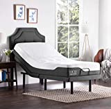 LUCID L300 Adjustable Bed Basewith LUCID 10 Inch Memory Foam Hybrid Mattress-Twin XL