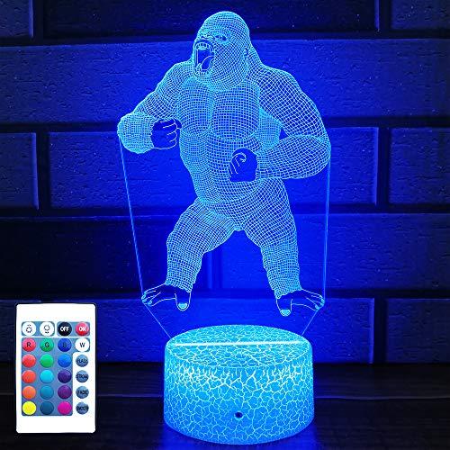 HLLKYYLF Baby Gorilla Gifts Gorilla Light 16 Color...