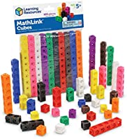 Learning Resources MathLink Cubes, Homeschool, Educational Counting Toy, Math Cubes, Linking Cubes, Early Math Skills,...