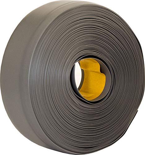 Weichsockelleiste selbstklebend grau 25m, Winkelleiste, Sockelleiste, MS005