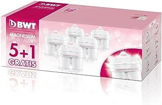 Cartouche filtrante, enrichie au magnésium, compatible Brita Maxtra, pack 5+1