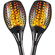 Aityvert Upgraded Solar Torch Lights 43 inches Flickering Dancing Flames Solar Torches Outdoor Waterproof Landscape Lighting Dusk to Dawn Auto On/Off Solar Lights for Yard Garden Patio Pool 2-Pack