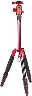 SIRUI AM-005R Ultra Lightweight Aluminum Travel Tripod with Ball Head, Red, AM-005R+D-10R