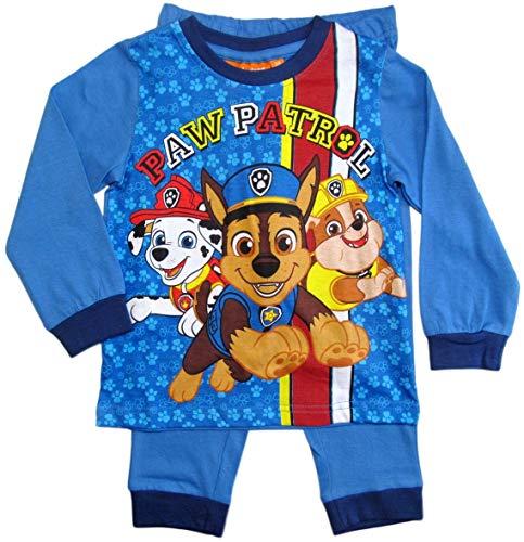 Schlafanzug Jungen Pyjama Schlafanzug Lang (Marine, 110)