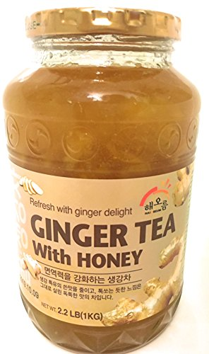 Haioreum Ginger Tea With Honey - Refresh With Korean Herbal Tea Ginger Delight - Product of Korea 2.2 lb (1 kg)
