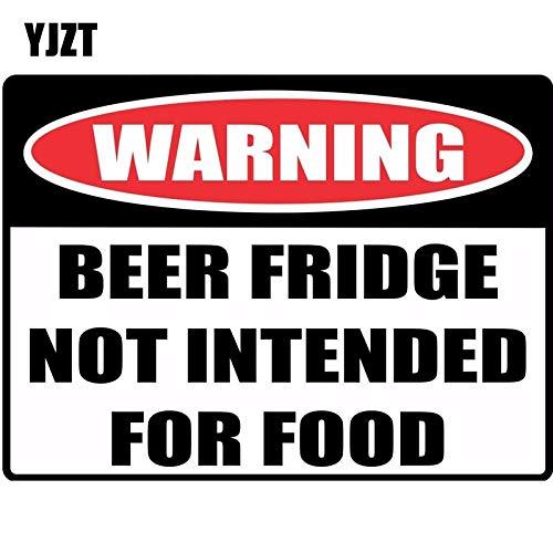 A/X Sticker de Carro 16 * 11,8 cm señal de Advertencia Divertida Nevera de Cerveza no diseñada para Alimentos Pegatina de Coche calcomanías Reflectantes C1-8140