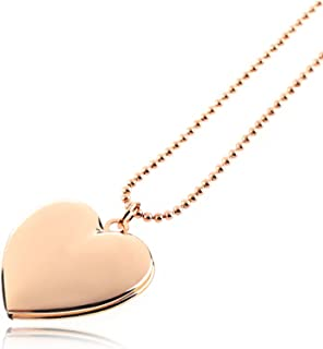 8a255f5b84 Dharshana Trends 18K Rose Gold Plated Heart Photo Pendant Necklace for  Girls and Women