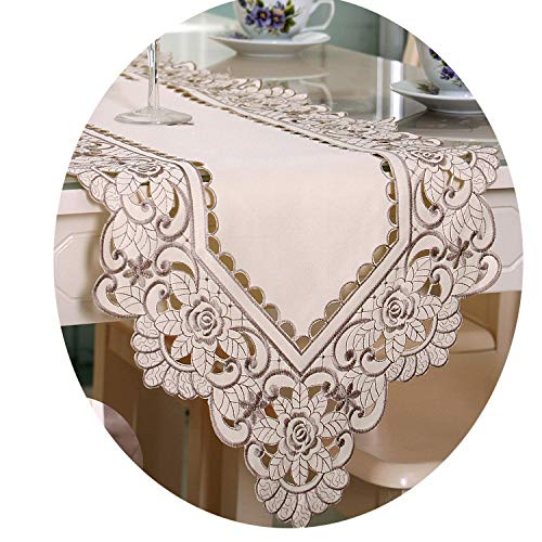 Buy and buy at Brandon Embroidered Open Table Flag Pastoral Table Cloth Coffee Table Fabric Table Flag FabricGrey40*150Cm