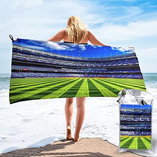 Mgbwaps Toalla de baño deportiva de fútbol, toalla de gimnasio, toalla de playa, uso multiusos para deportes, viajes, súper absorbente, microfibra suave de secado rápido, ligero