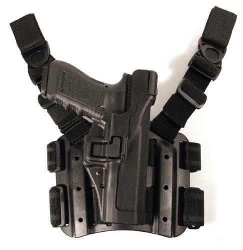 BLACKHAWK Serpa Level 3 Tactical Black Holster, Size 03, Left Hand (Colt 1911 & Clones s/ or w/o rail)