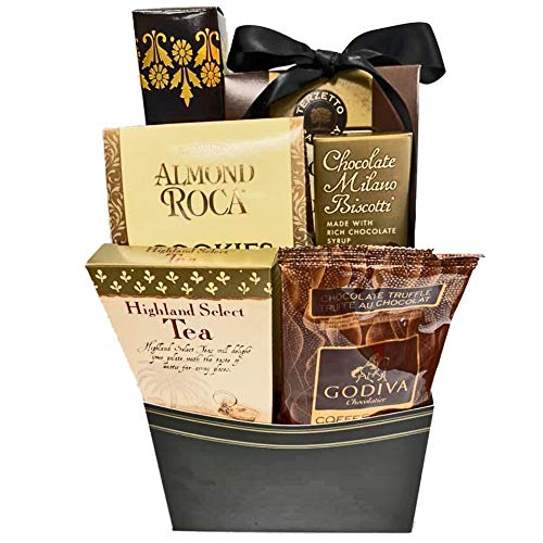 Sympathy Gift Basket for Loss of Mother, Loss of Father, Loss of Loved One Gourmet Bereavement Gift Basket (Sympathy Gift Basket for Loss with Coffee)