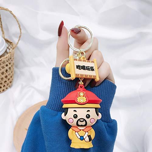 ZSRLX Ästhetischer chinesischer Stil Alter Palastcharakter Schlüsselbund Zubehör Autozubehör Paar Tasche Schlüsselanhänger