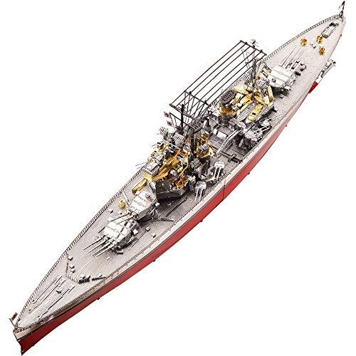 Piececool HMS Prince Of Wales Battleship 3D Metal Model Kits DIY Assemble Puzzle Laser Cut Jigsaw Toy P112-RSG
