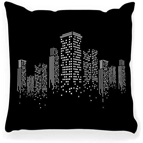 SSHELEY Kussen Cover Vector Urban Cityscape Gebouw Stad Website Sjabloon Grafische Architectuur Bedrijf
