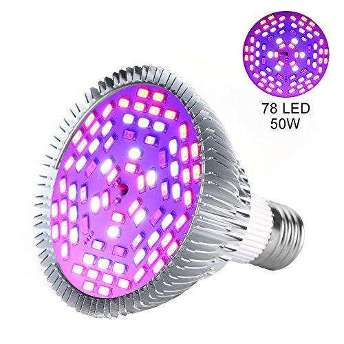 Luz de planta, 1 pieza, 30W, 50W, 80W, E27,LED, eSpectro completo, lámpara de crecimiento de plantas, horticultura, bombilla para jardín