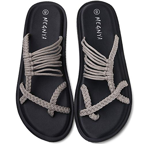 Yoga Mat Flip Flops for Women, Comfortable Foam Sandals for Walking, Flexible and Lightweight Slippers for Beach/Holiday/Poolside/Outdoor Activities 19ZDME05-W81-7