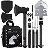 Camping Shovel Axe - Multi-Tool Folding Survival Shovel and Camping Axe 19-39 inch Lengthened Handle High Carbon Stainless Steel with Tactical Pack, for Camping, Fishing, Expedition, Emergency etc