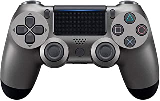 N / A Controller PS4 Game Controller PS4 / PC Vibration Strip Light Wireless Bluetooth Controller (Steel Black)