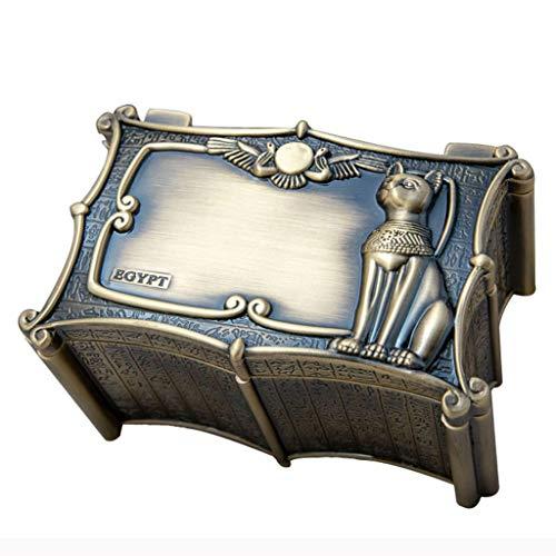 DWQ Joyero Caja de joyería Vintage Organizador de Joyas de Dios Gato Egipcio Antiguo, Caja de Almacenamiento para Collar de Anillo, día de la Madre, día de San Valentín Almacenam