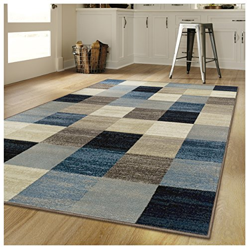 Superior's Rockaway Collection Area Rug, 10mm Pile Height with Jute Backing, Durable, Fashionable and Easy Maintenance, 9' x 12' - Multi Color
