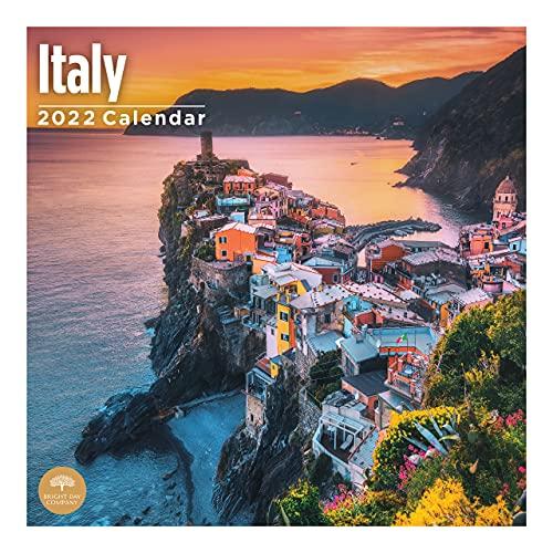 2022 Italy Wall Calendar by Bright Day, 12 x 12 Inch, European Travel Destination