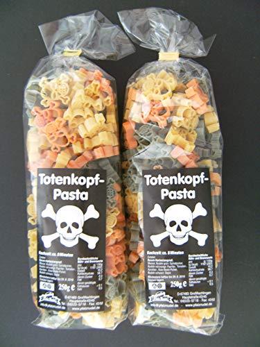 Pfalznudel Streuteile Totenköpfe aus Nudelteig, 2X 250 g, Nudeln, Pasta, Dekoration, Delikatesse, Totenkopf